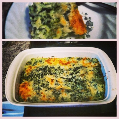 spinach rice cheese casserole