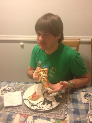 Luke and his Gluten Free Pizza