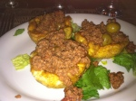 plaintain cups with picadillo